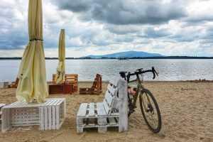 Trasa rowerowa Zalew plaża
