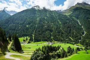 Pitztal Alpy trasa rowerowa