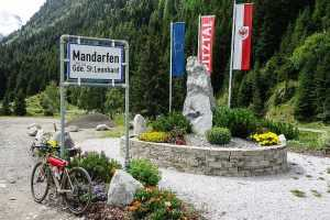 Alpy rowerem Pitztal Mandarfen 11
